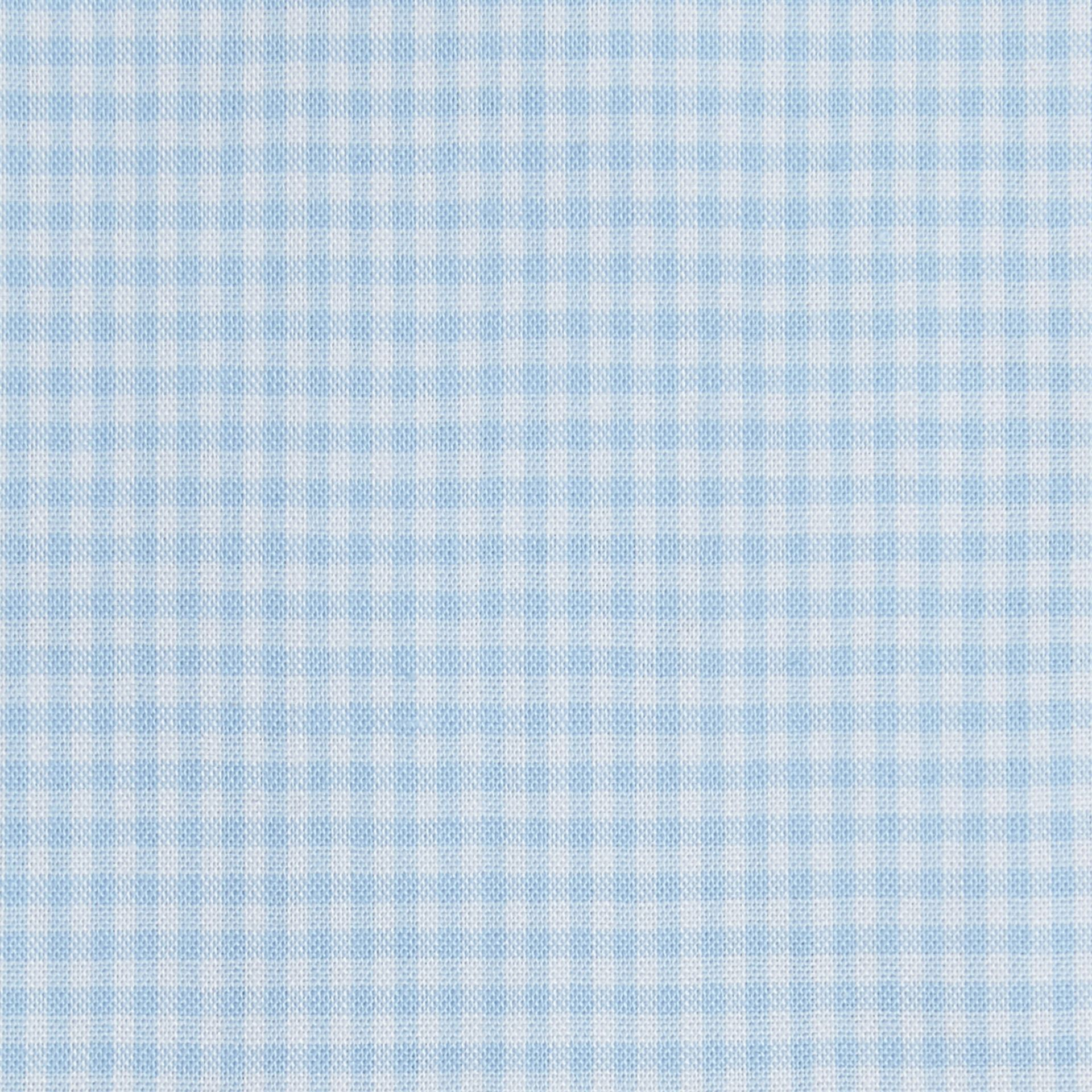 Modern Fit Gingham Cotton Poplin Shirt in City Blue - gallery image 2