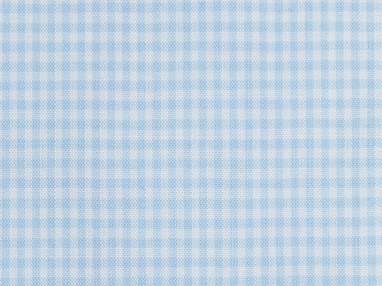Modern Fit Gingham Cotton Poplin Shirt in City Blue - Men | Burberry - cell image 1