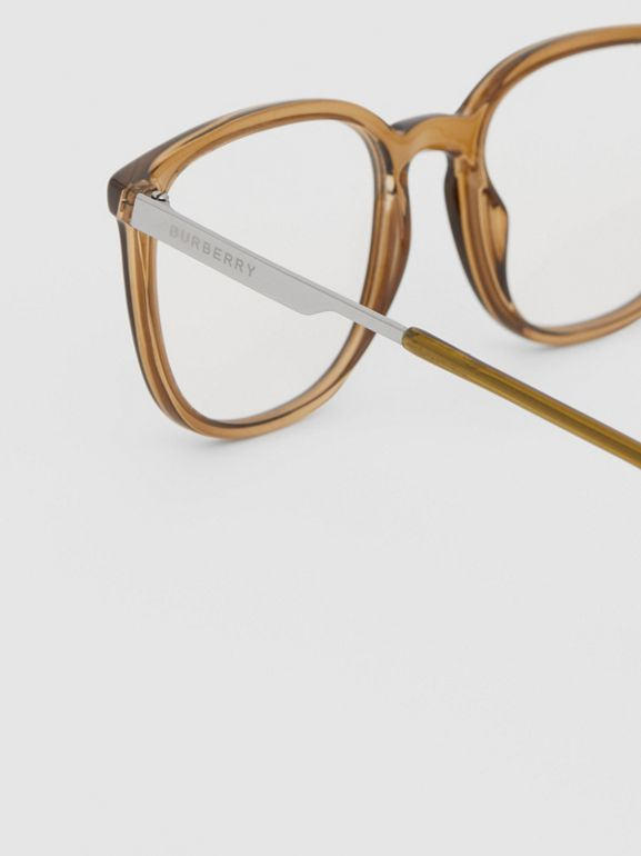 Square Optical Frames in Olive Green | Burberry - cell image 1