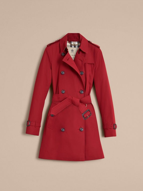 Trench coat Kensington - Trench coat Heritage de longitud media Rojo Desfile - cell image 3
