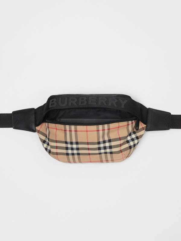 Medium Vintage Check Bum Bag in Archive Beige | Burberry Australia - cell image 3