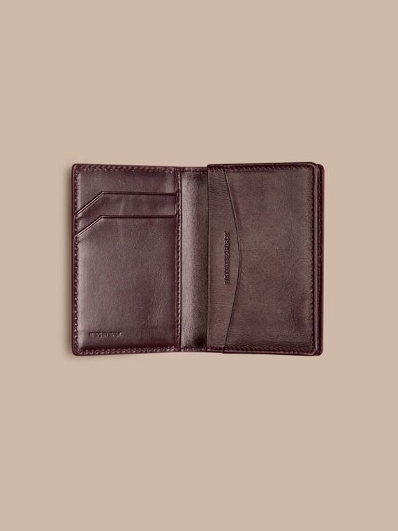 Wine London Leather Folding Card Case - cell image 3
