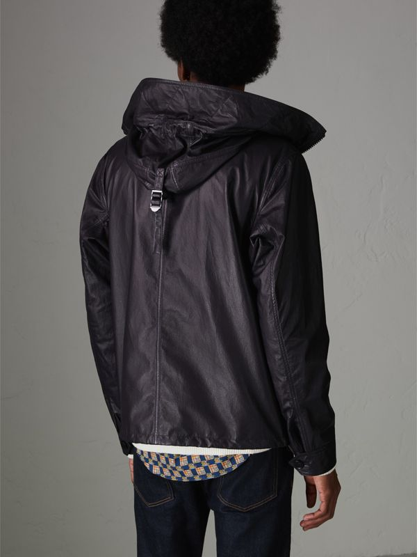 Paper-light Lambskin Hooded Jacket in True Navy - Men | Burberry - cell image 2