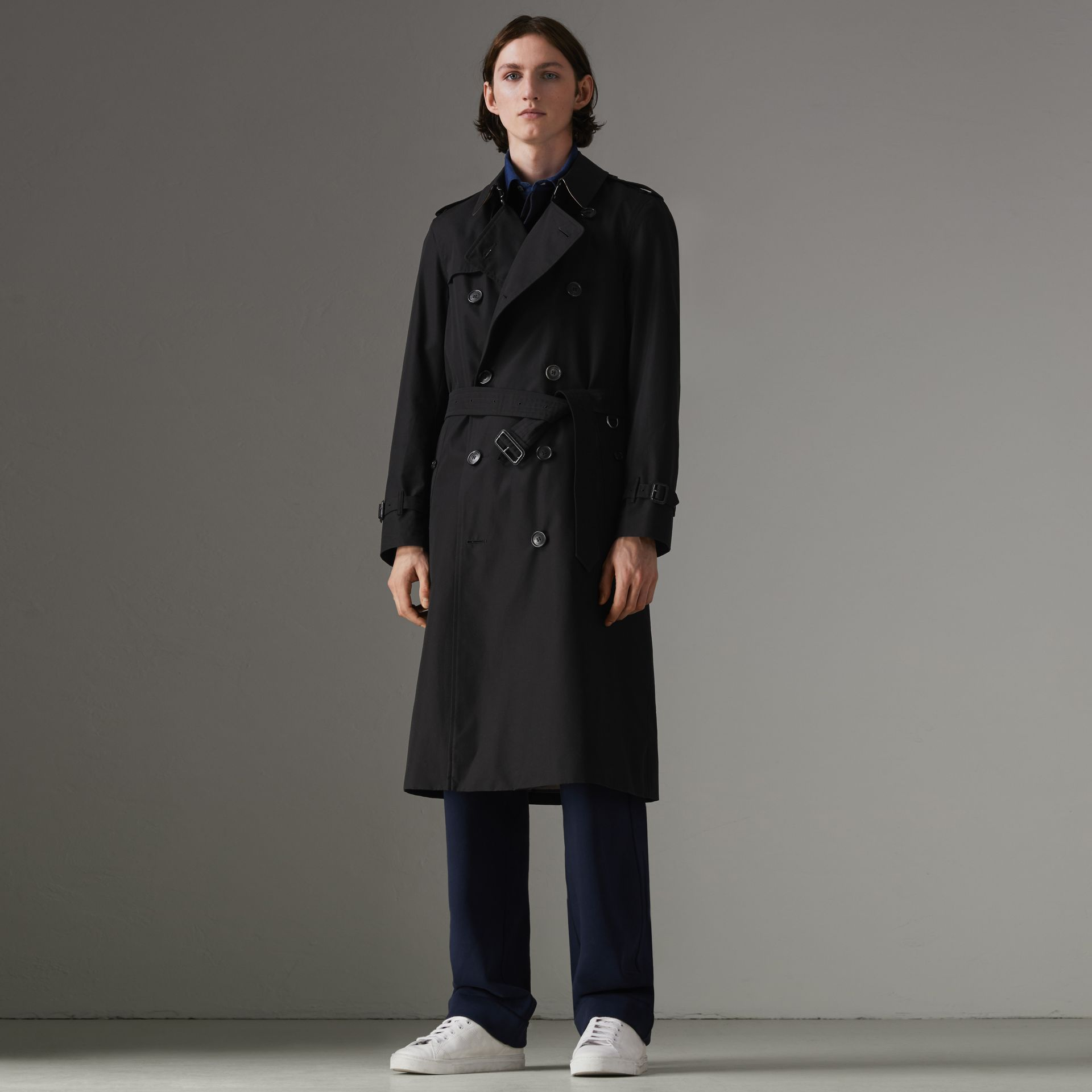 The Chelsea – Trench Heritage long (Noir) - Homme | Burberry Canada - photo de la galerie 0