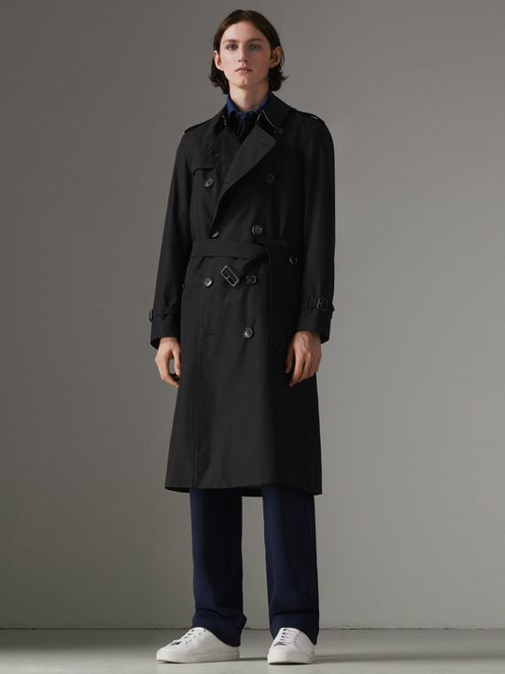The Long Chelsea Heritage Trench Coat in Black