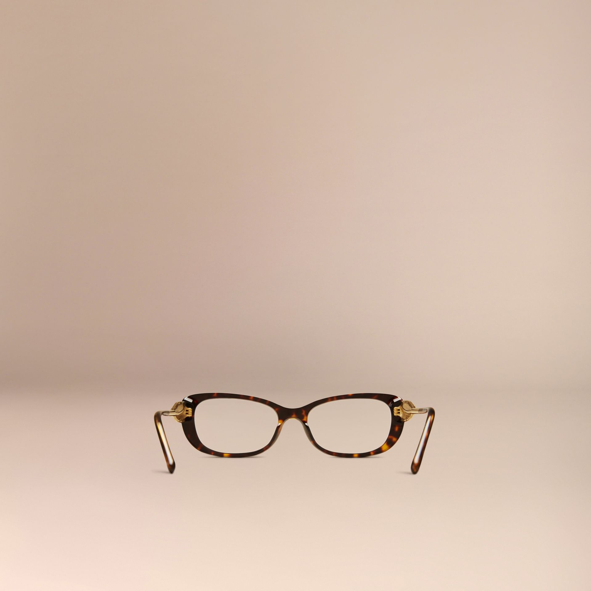 Gabardine Collection Oval Optical Frames Tortoise Shell - gallery image 4