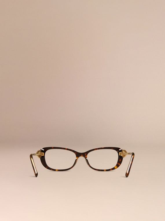 Gabardine Collection Oval Optical Frames Tortoise Shell - cell image 3