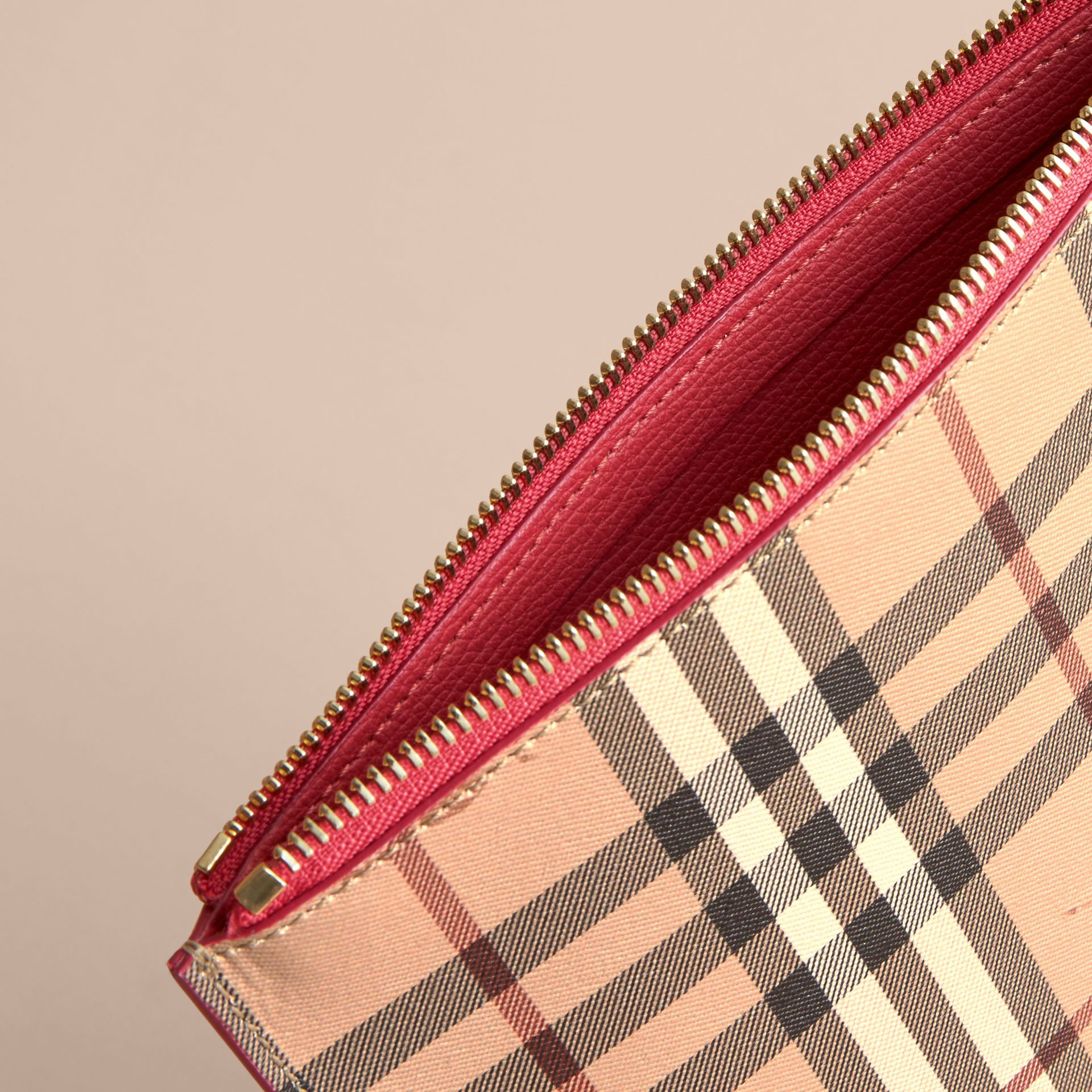 Haymarket Check and Leather Pouch - Women | Burberry Singapore - gallery image 5