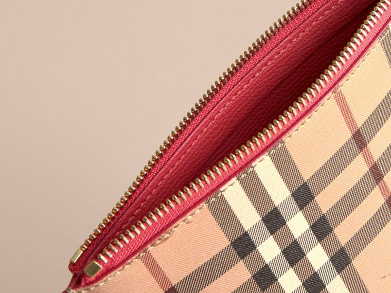 Haymarket Check and Leather Pouch - Women | Burberry - cell image 4