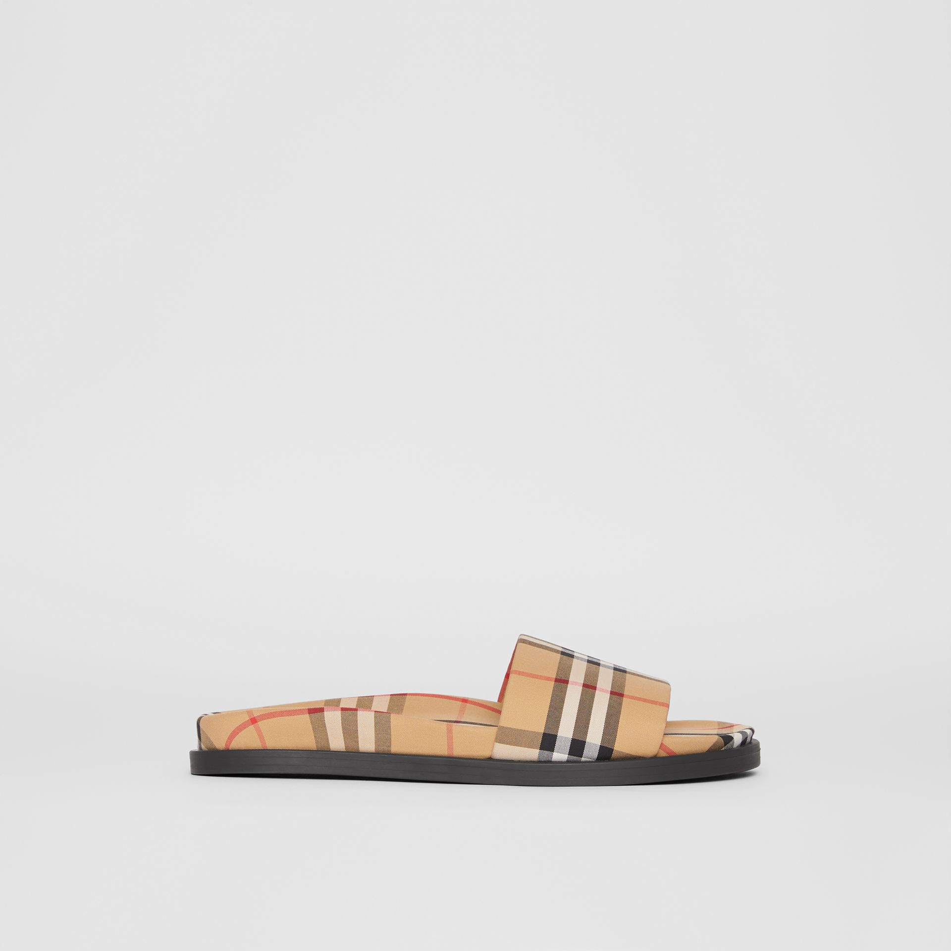 Vintage Check Slides in Antique Yellow | Burberry - gallery image 5