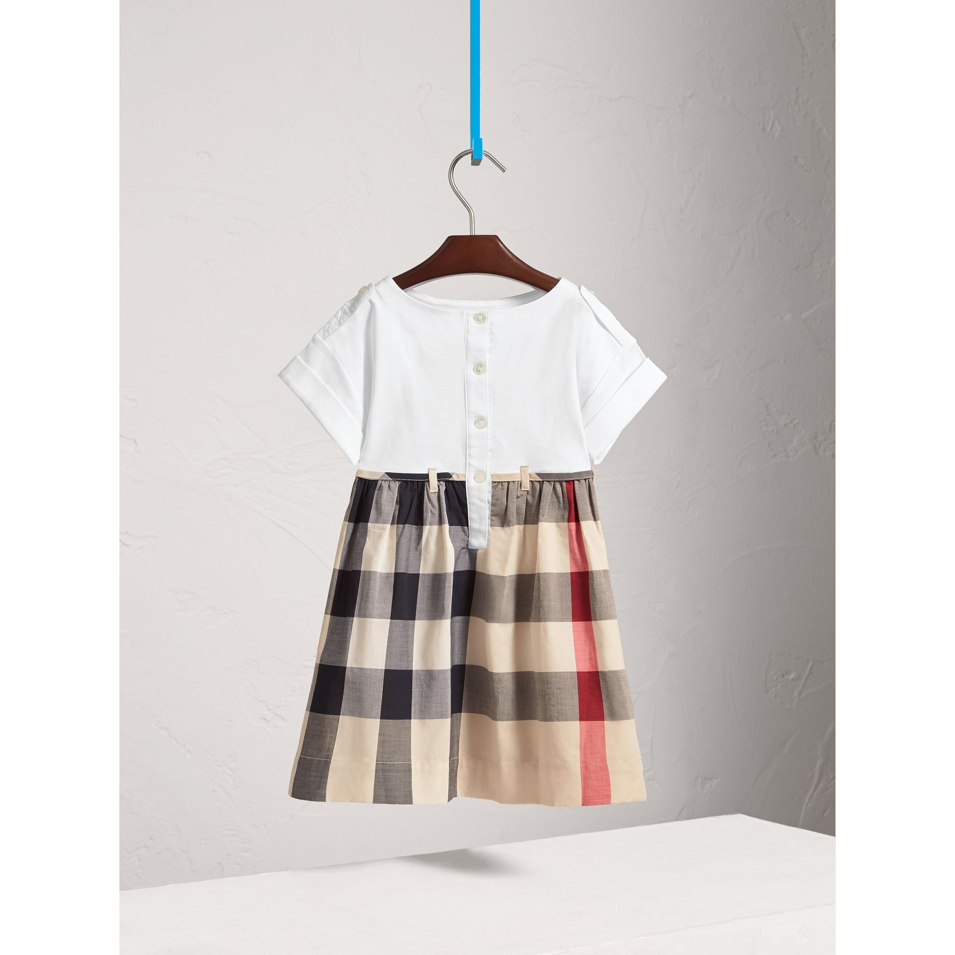 Check Cotton Dress in New Classic - Girl | Burberry Canada - gallery image 3