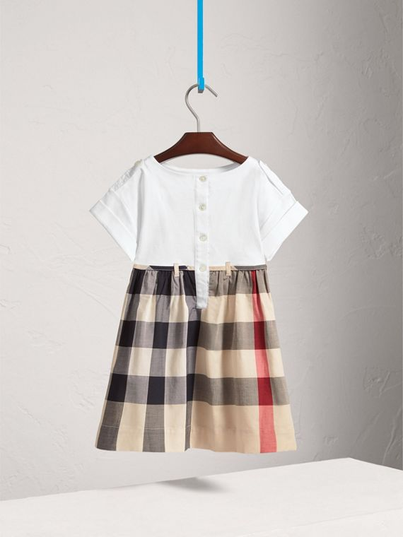 Check Cotton Dress in New Classic - Girl | Burberry United Kingdom - cell image 3