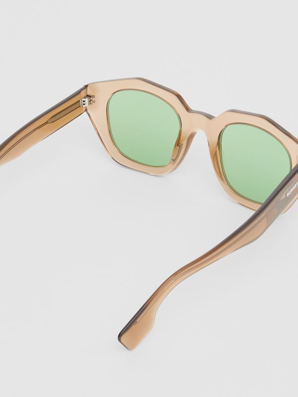 Geometric Frame Sunglasses in Brown - Women | Burberry - cell image 3
