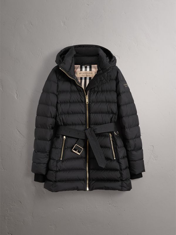 Hooded Down-filled Puffer Jacket in Black - Women | Burberry Hong Kong - cell image 3