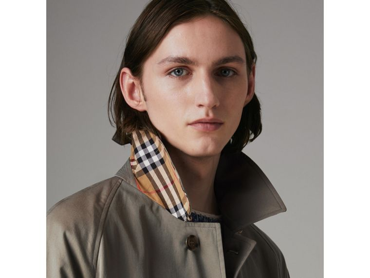 The Camden Car Coat in Chalk Green - Men | Burberry - cell image 4