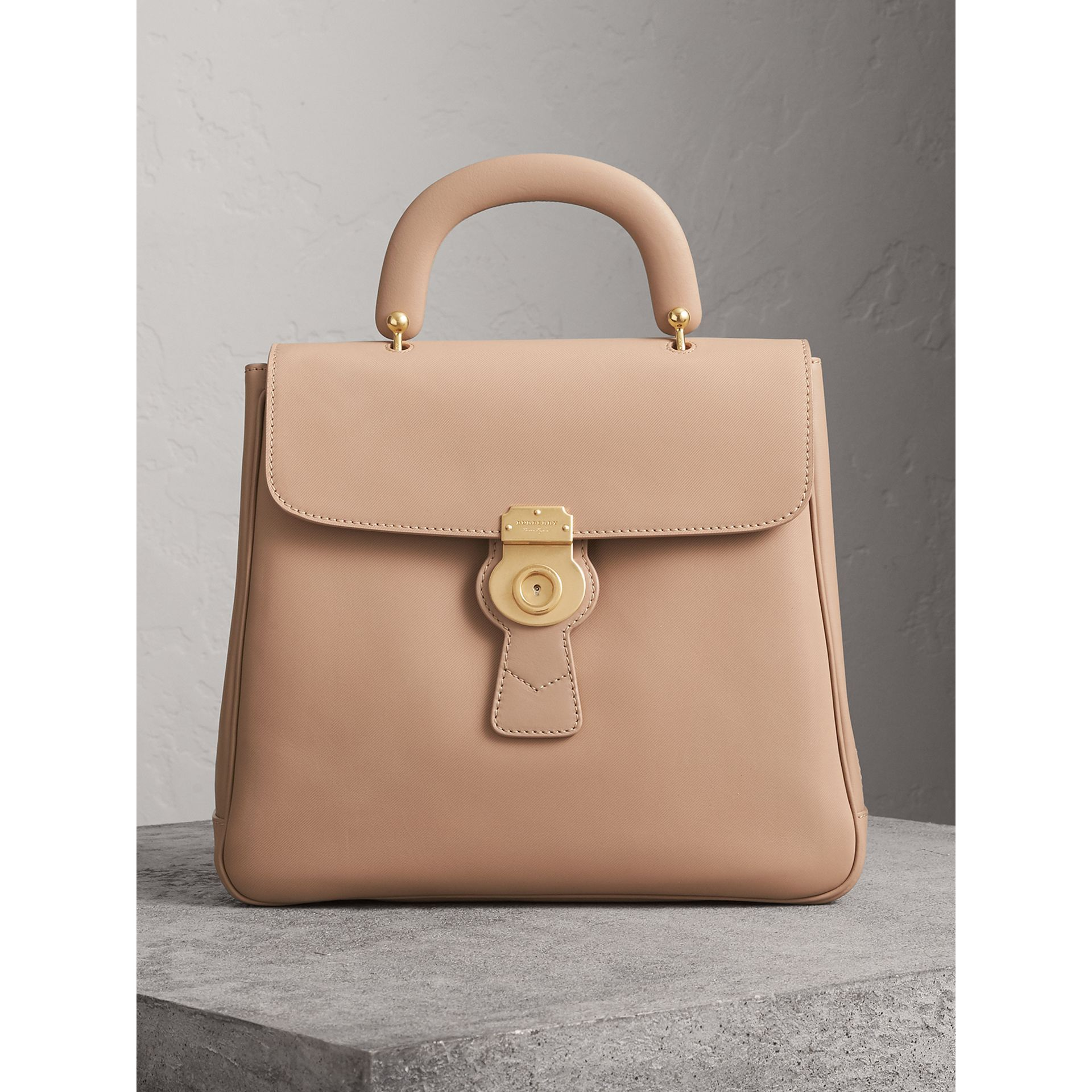 The Large DK88 Top Handle Bag in Honey - Women | Burberry - gallery image 0