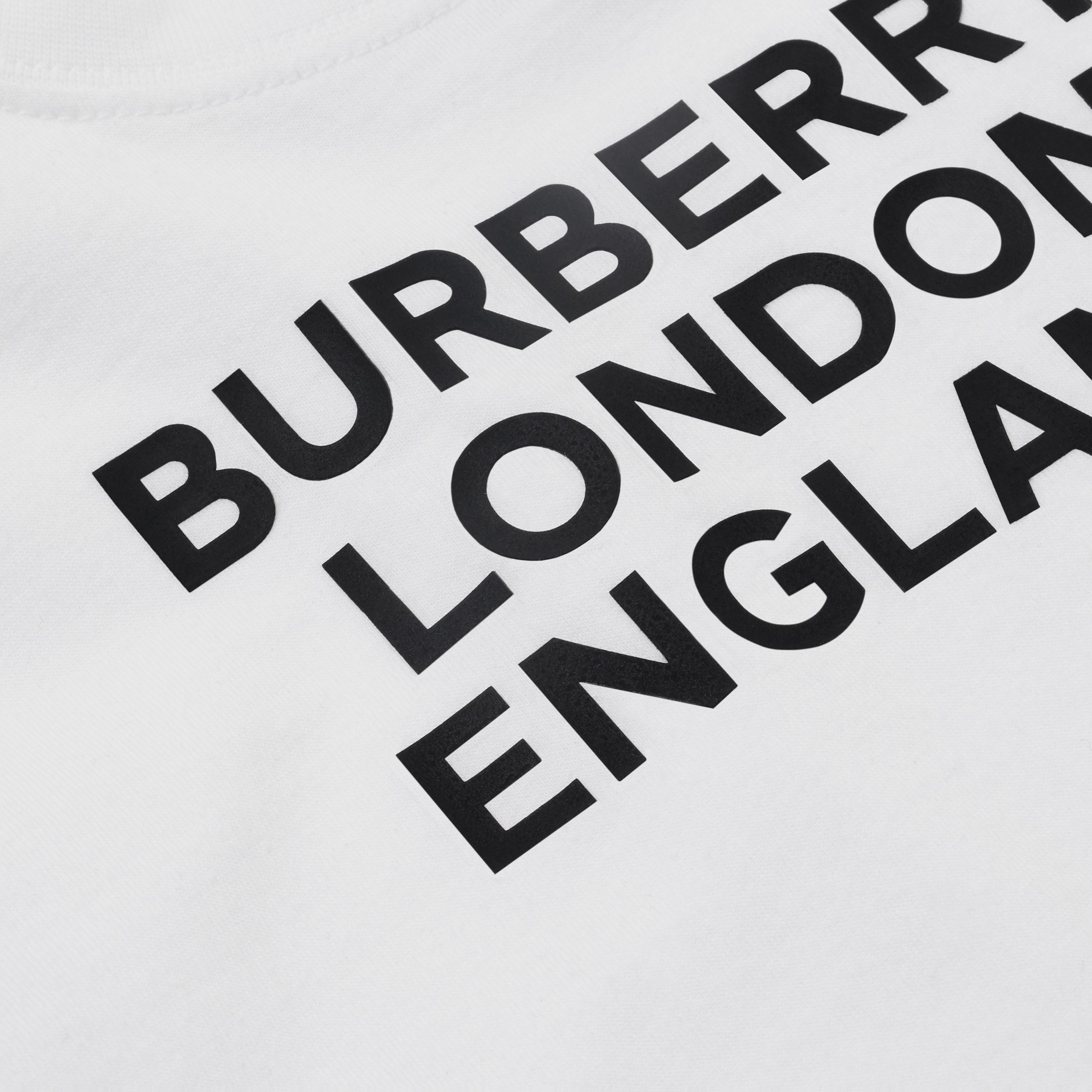 Logo Print Cotton T-shirt in White - Children | Burberry - 2