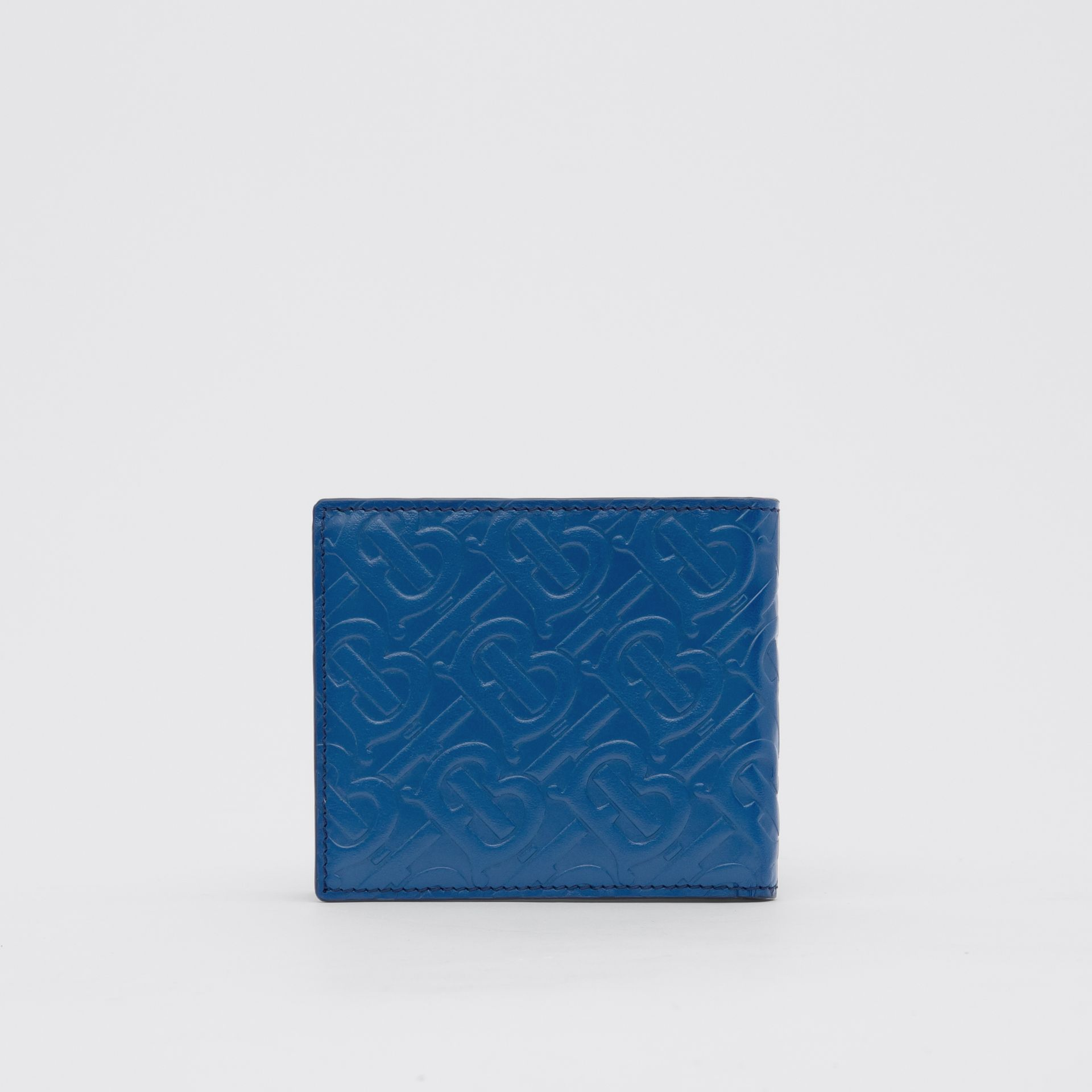 Monogram Leather International Bifold Wallet in Pale Canvas Blue - Men   Burberry - gallery image 4
