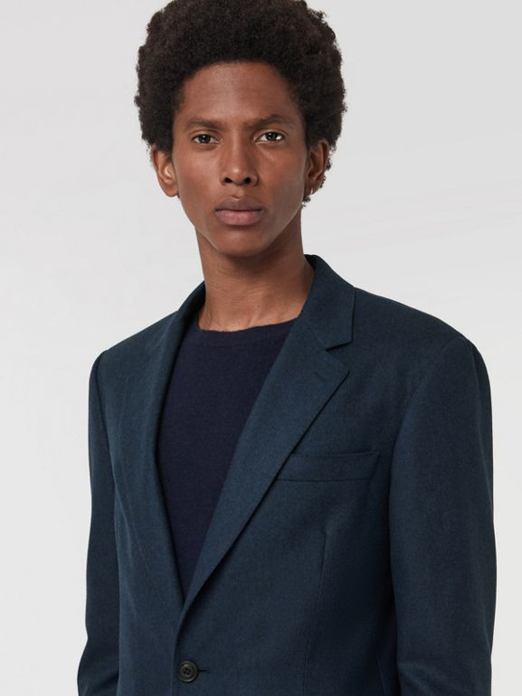 Modern Fit Wool Cashmere Tailored Jacket in Dark Teal - Men | Burberry United Kingdom - cell image 1