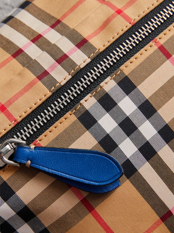 Medium Vintage Check Bum Bag in Canvas Blue - Men | Burberry - cell image 1
