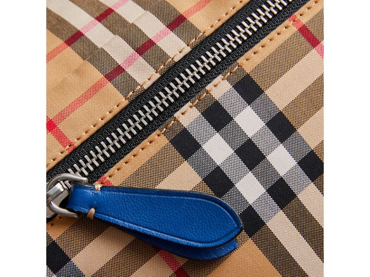Medium Vintage Check Bum Bag in Canvas Blue | Burberry - cell image 1