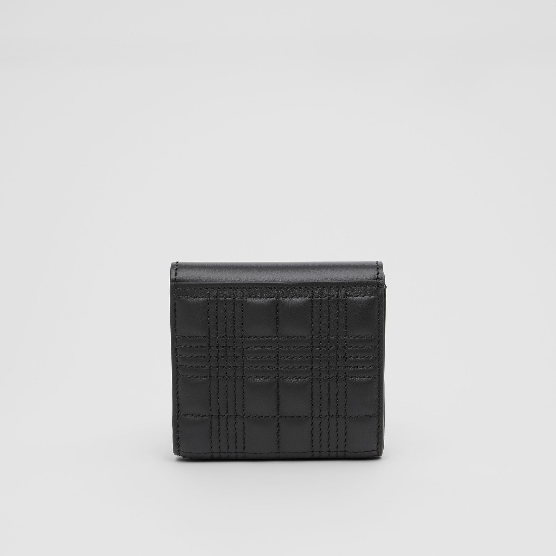 Quilted Lambskin Folding Wallet in Black - Women | Burberry Hong Kong S.A.R - gallery image 4