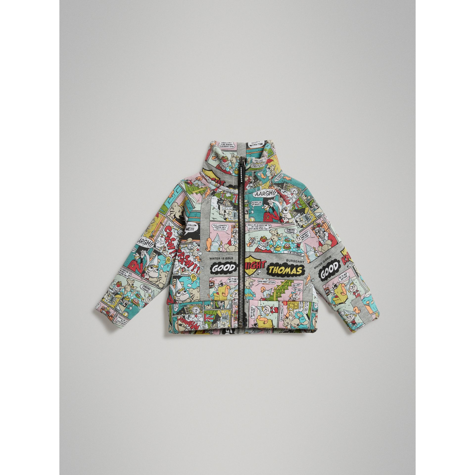 Comic Strip Print Cotton Track Top in Miscellaneous - Children | Burberry Hong Kong - gallery image 0