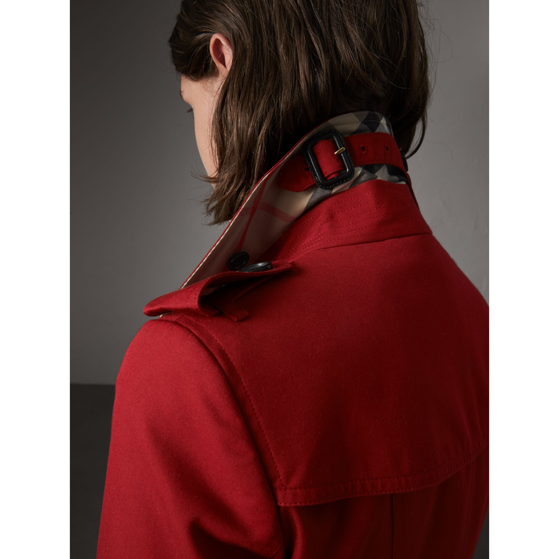 The Chelsea – Extra-long Trench Coat in Parade Red - Women | Burberry - gallery image 2