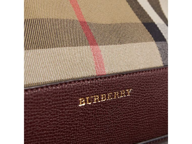 House 格紋皮革手拿包 (紅木色) - 女款 | Burberry - cell image 1