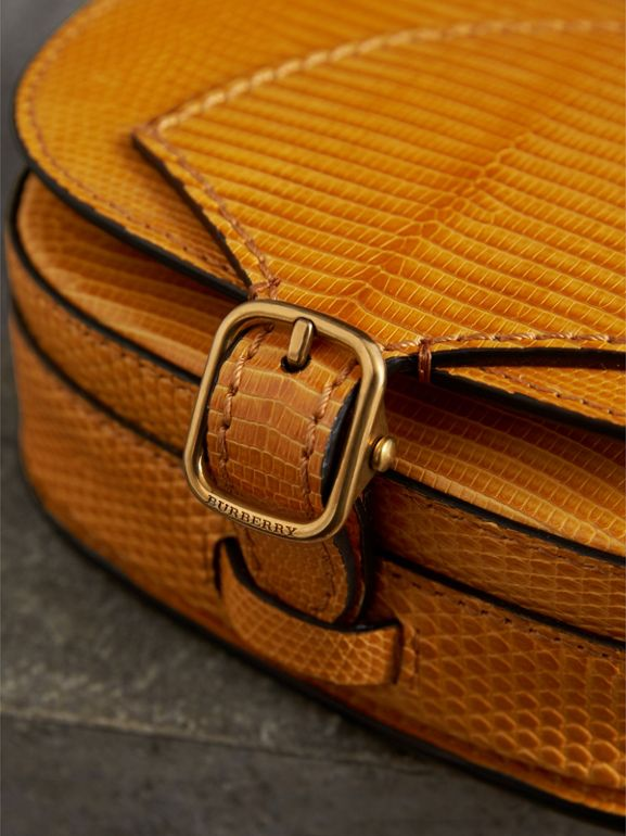 The Satchel in Lizard in Amber Yellow - Women | Burberry - cell image 1