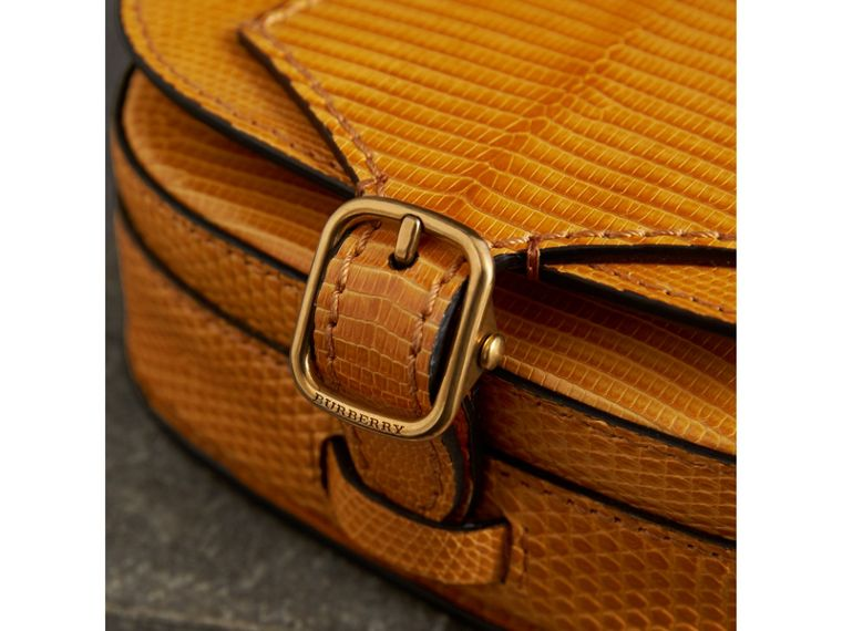 The Satchel in Lizard in Amber Yellow - Women | Burberry United Kingdom - cell image 1