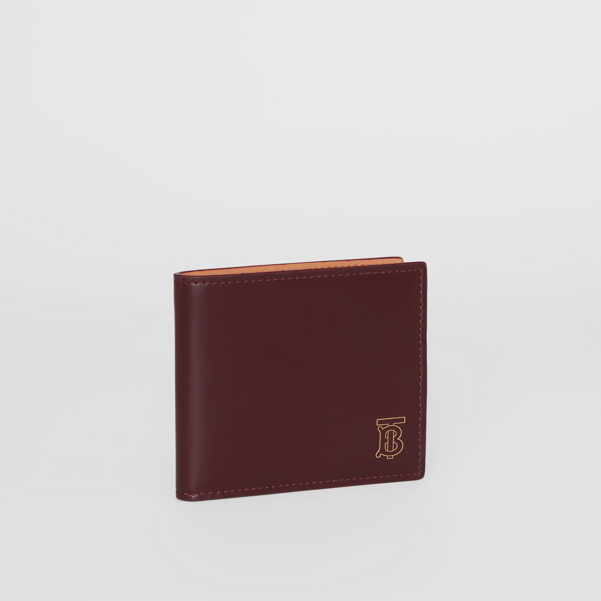 Monogram Motif Leather International Bifold Wallet in Oxblood - Men | Burberry Australia - gallery image 3