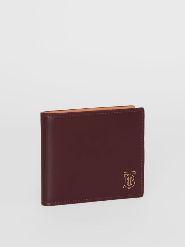 Monogram Motif Leather International Bifold Wallet in Oxblood - Men | Burberry - cell image 3