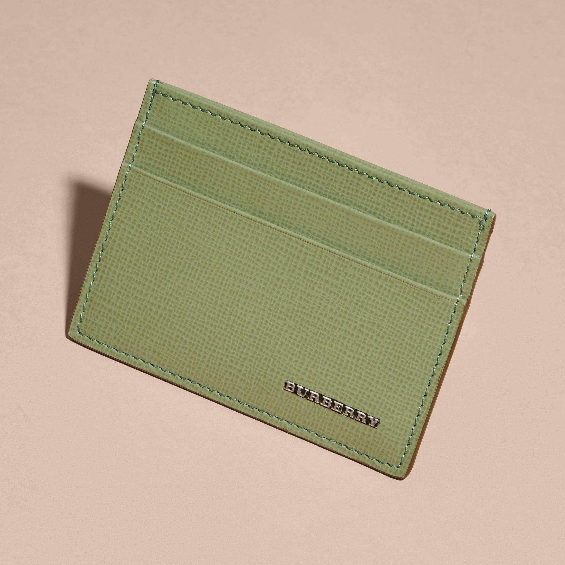 Antique green London Leather Card Case Antique Green - gallery image 3