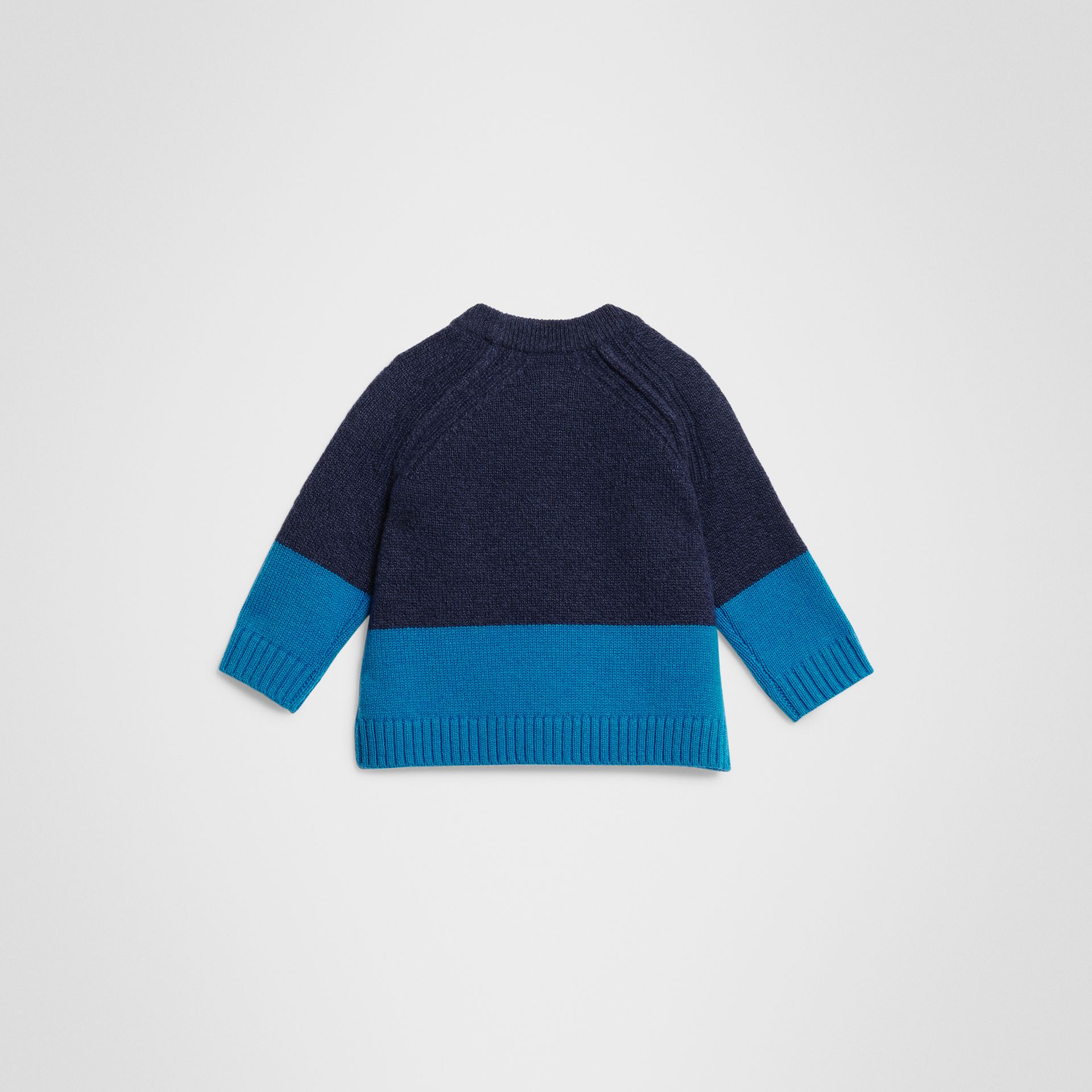 Logo Intarsia Cashmere Sweater in Navy - Children | Burberry United States - gallery image 3