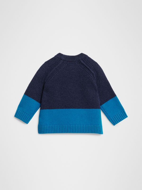 Logo Intarsia Cashmere Sweater in Navy - Children | Burberry United States - cell image 3