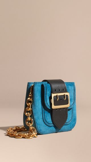 The Buckle Bag – Square in Suede and Leather