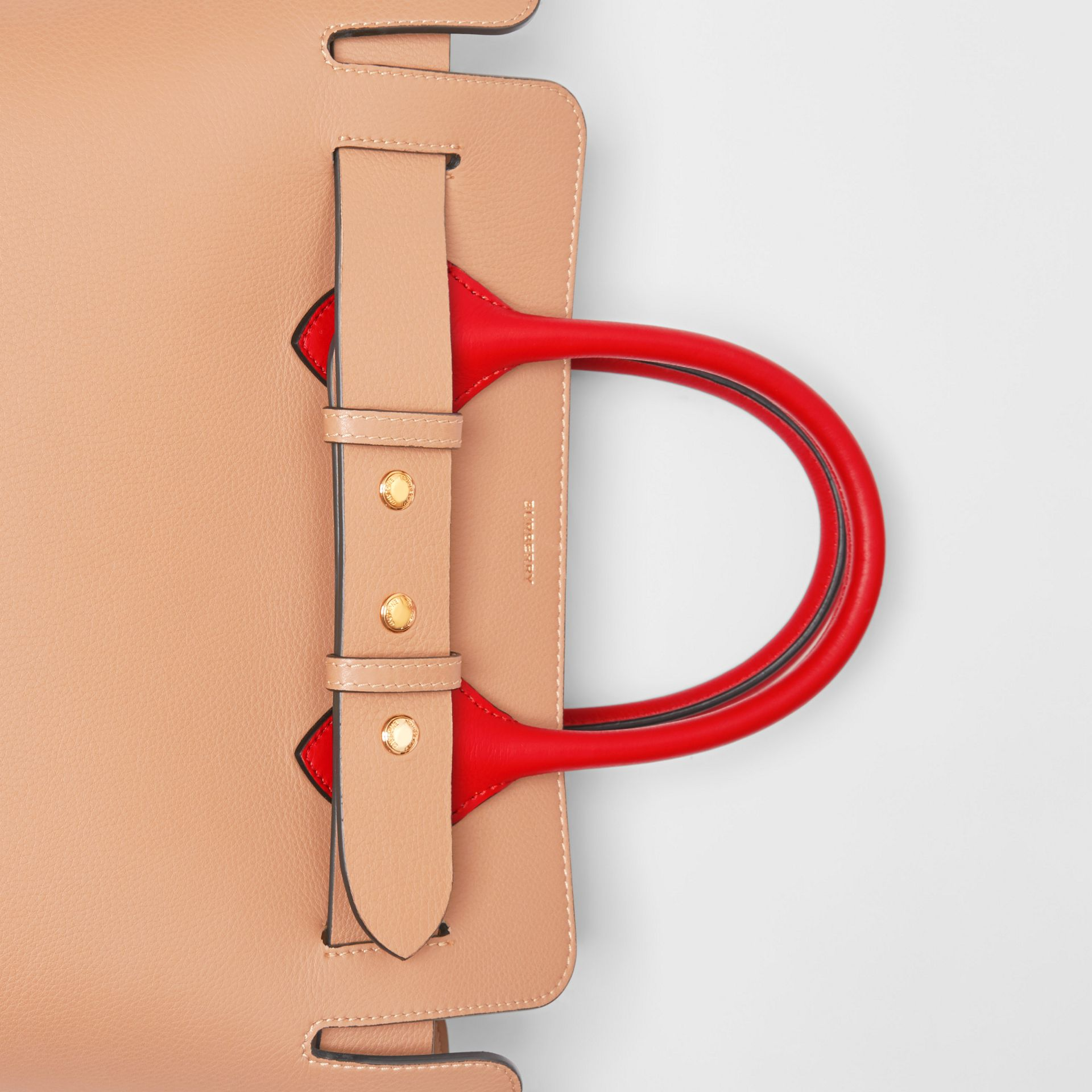 The Small Tri-tone Leather Triple Stud Belt Bag in Light Camel/chalk White - Women | Burberry United Kingdom - gallery image 1