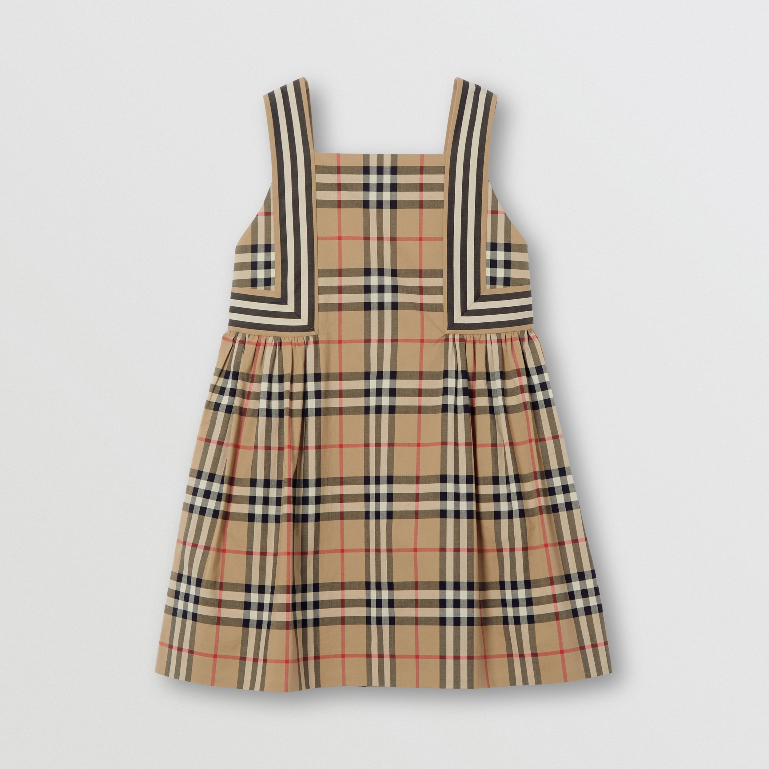 Vintage Check Cotton Dress in Archive Beige | Burberry - 1
