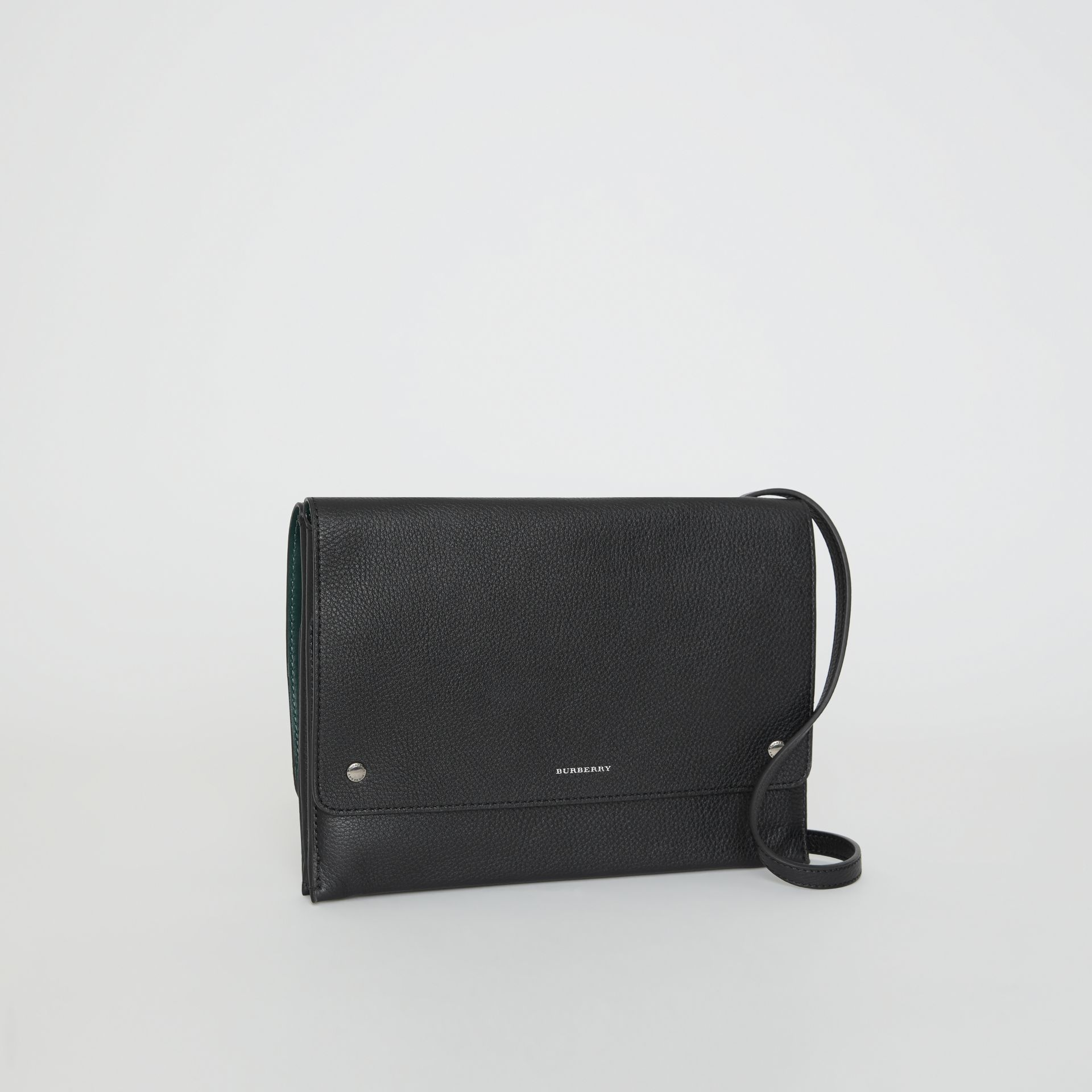 Leather Envelope Crossbody Bag in Black - Women | Burberry United States - gallery image 6