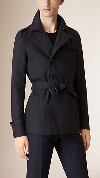 Double-Breasted Silk Lined Trench Jacket