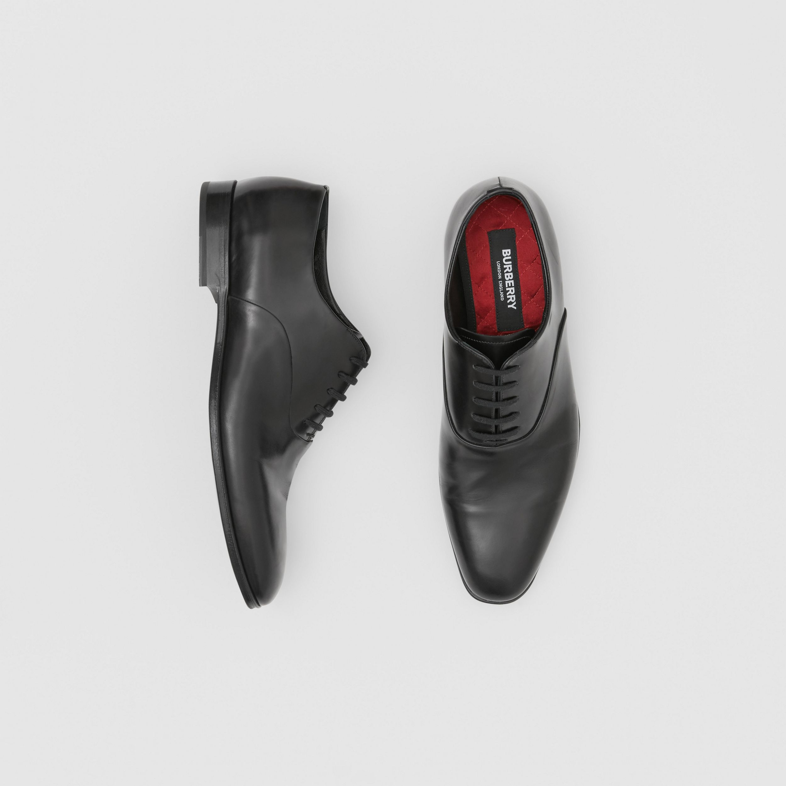 Leather Oxford Shoes in Black - Men | Burberry - 1