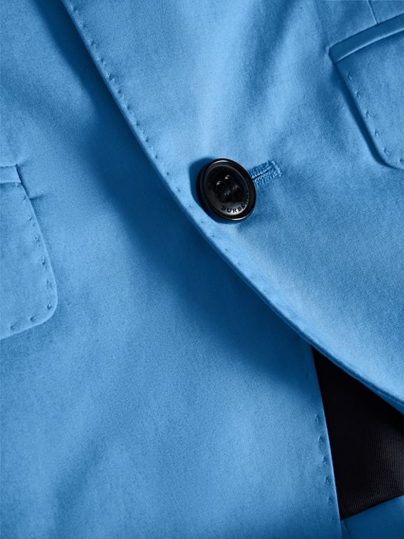 Cotton Poplin Blazer in Azure Blue | Burberry - cell image 1