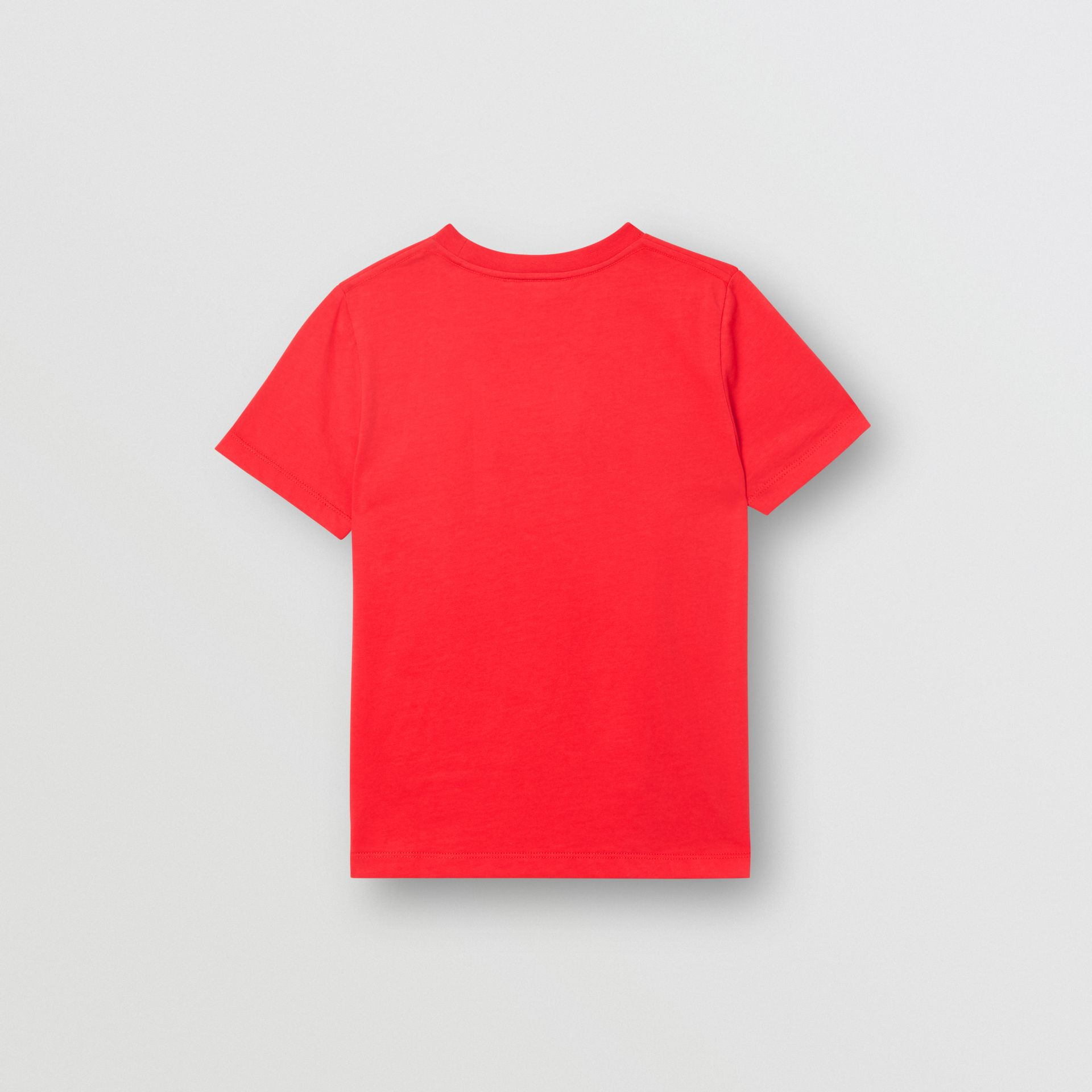 Logo Print Cotton T-shirt in Bright Red | Burberry Singapore - gallery image 4