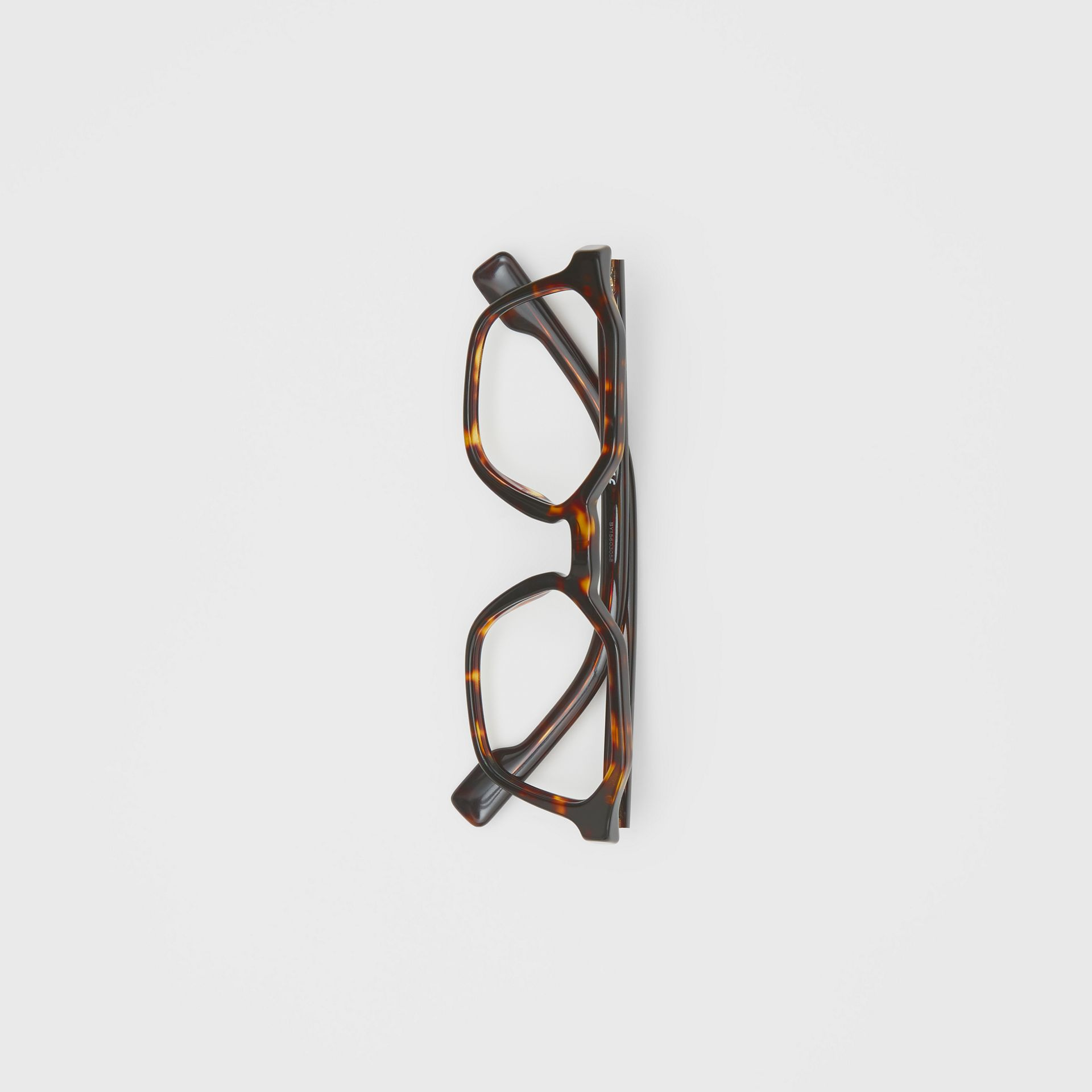 Geometric Optical Frames in Tortoiseshell - Women | Burberry United Kingdom - gallery image 2
