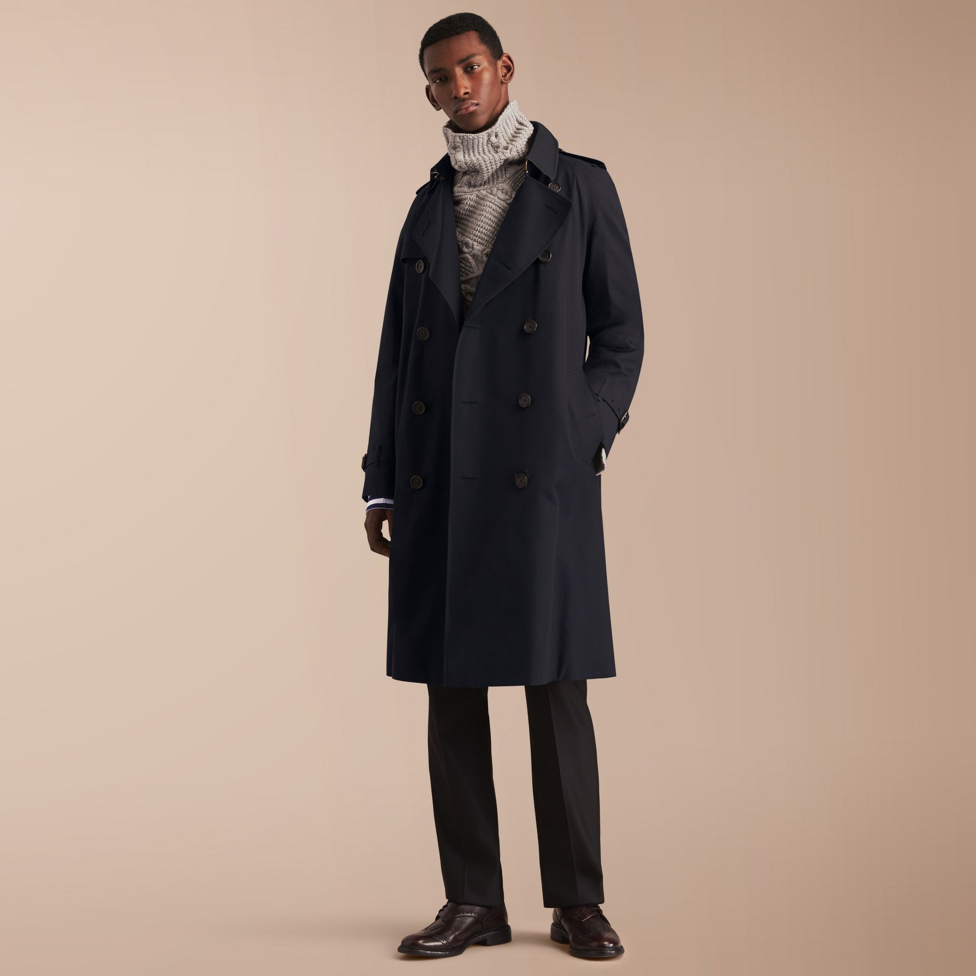 The Westminster – Long Heritage Trench Coat in Navy - Men | Burberry - gallery image 1