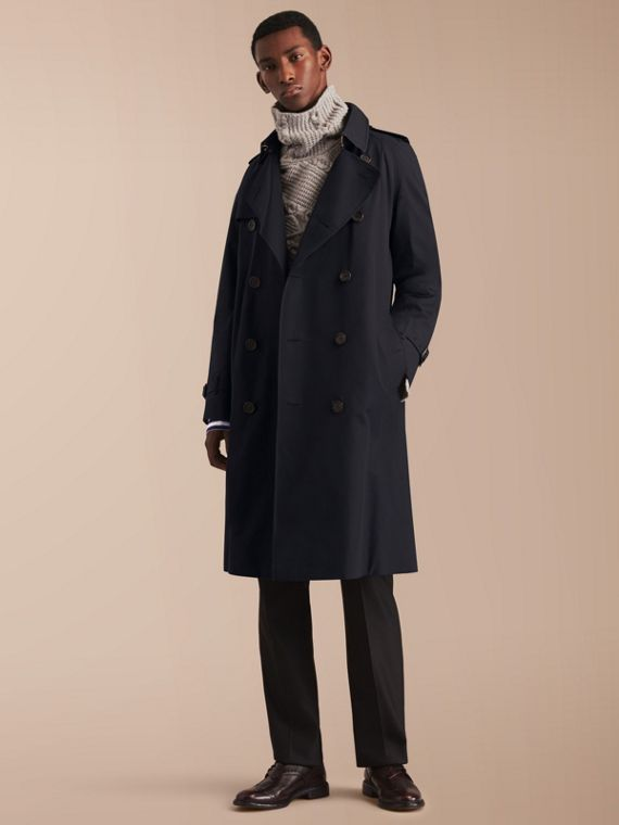 The Westminster – Langer Heritage-Trenchcoat Marineblau