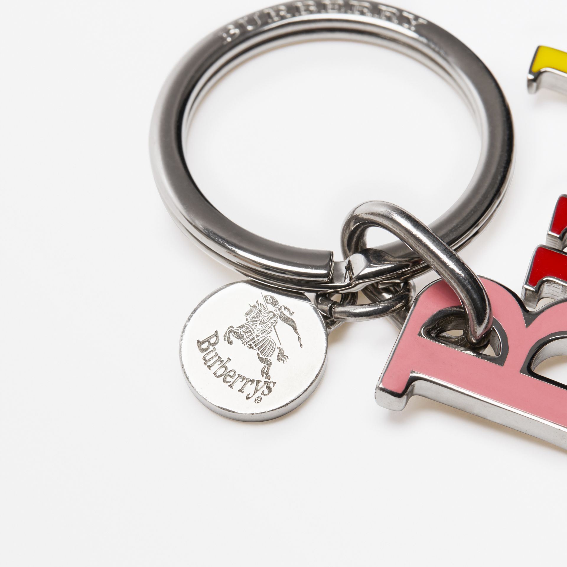 Archive Logo Key Charm in Rainbow | Burberry - gallery image 1