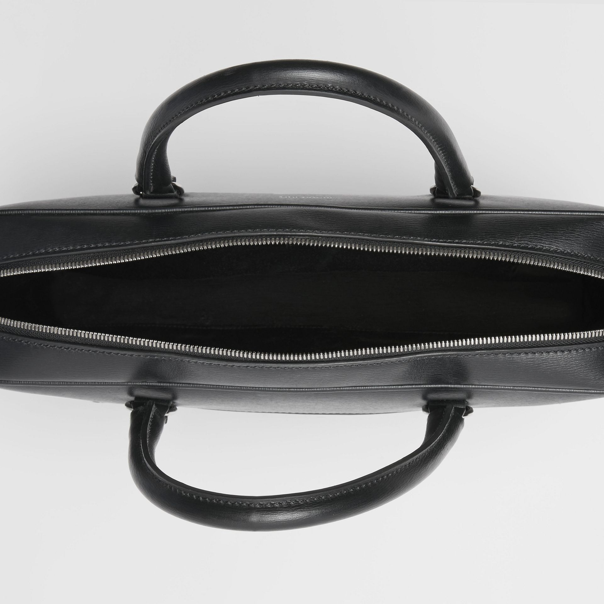 London Leather Briefcase in Black - Men | Burberry - gallery image 5