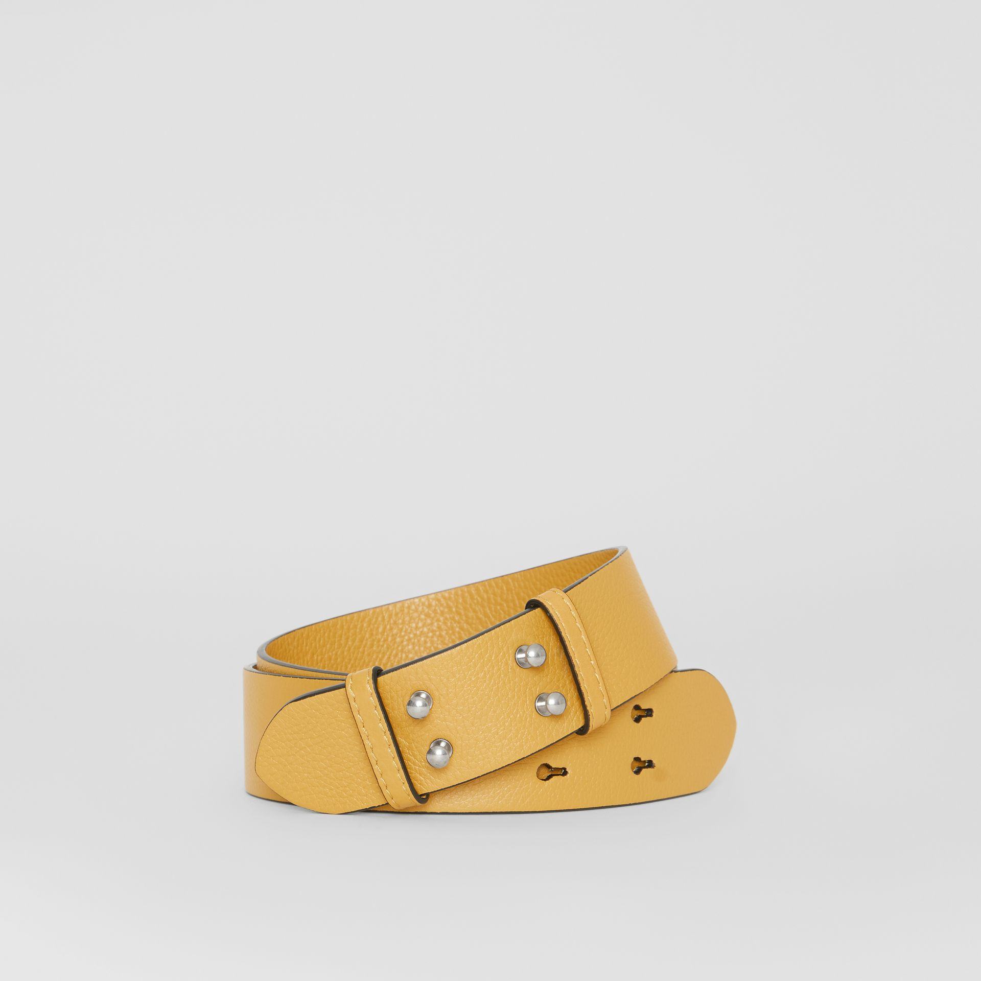 The Small Belt Bag Grainy Leather Belt in Cornflower Yellow - Women | Burberry Australia - gallery image 0